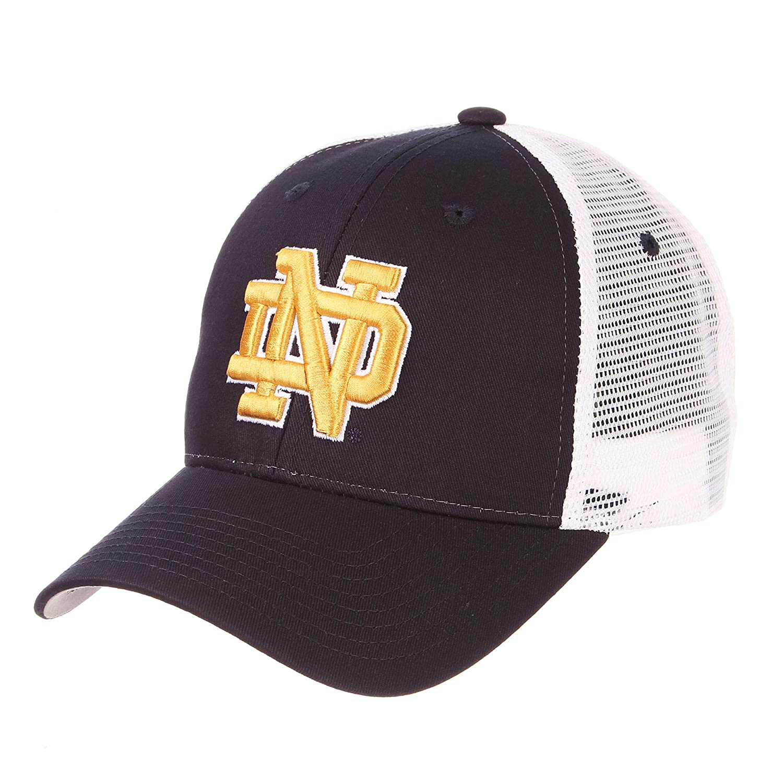 f1d16d3cd0f9d Amazon.com   ZHATS University of Notre Dame ND Fighting Irish Navy Blue Big  Rig Mesh Trucker Baseball Hat Cap Size Adjustable   Sports   Outdoors