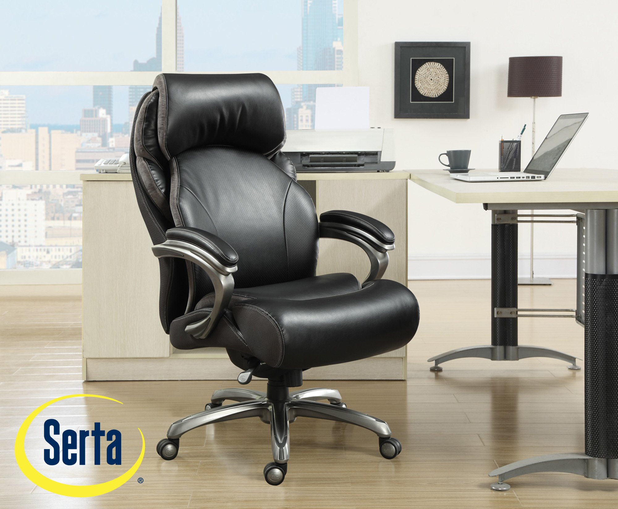 leather memory chair office and serta commercial l foam black multiple faux with puresoft big executive smooth tall