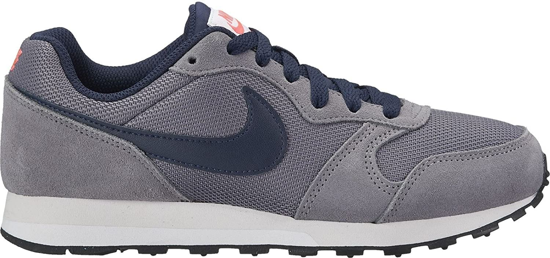 Nike Kinder Sneaker MD Runner 2, Sneakers Basses Mixte Enfant, Gris (Gunsmoke/Obsidian-Hot 012), 40 EU