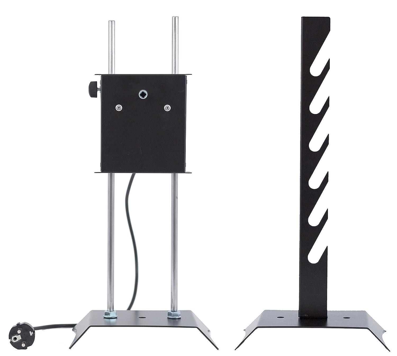 GIRARROSTO NURAXI Elettrico portata 20 kg con Coppia fermacarne, Leccarda e Spiedo in ACCIAIO INOX Perez Metal Designer