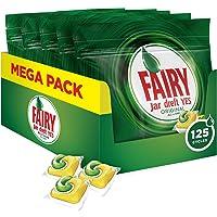 Fairy, Pastillas Lavavajillas Original Limón, 125 Cápsulas Todo