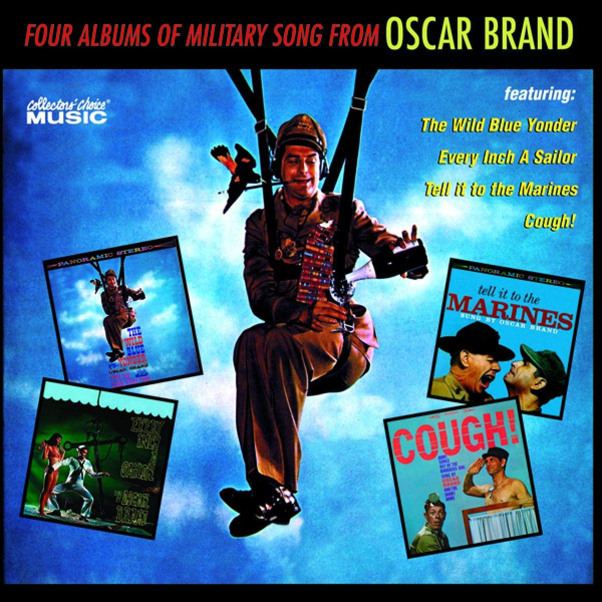 Four Albums of Military Song From Oscar Brand by Collector's Choice
