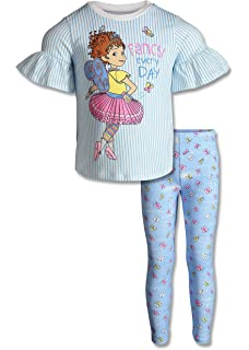 aa702456 Disney Fancy Nancy Ruffle Short Sleeve T-Shirt Top & Leggings Clothing Set
