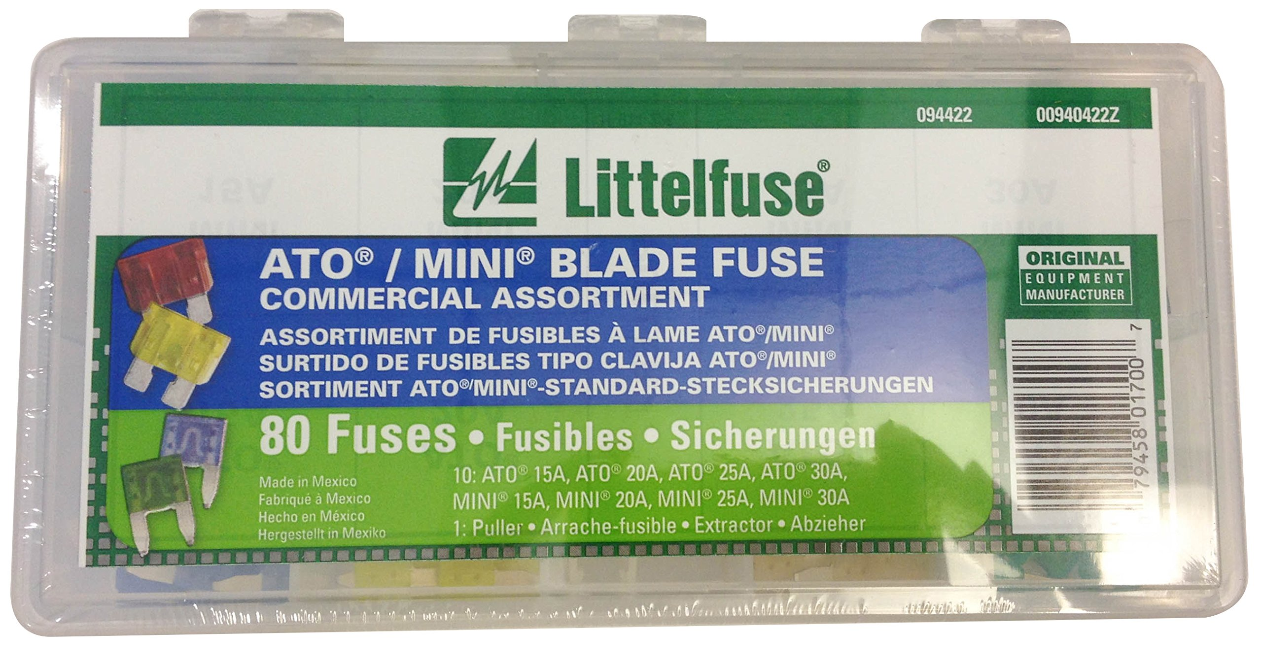 Littelfuse 94422 ATO/MINI Blade Fuse Kit - 80 Piece