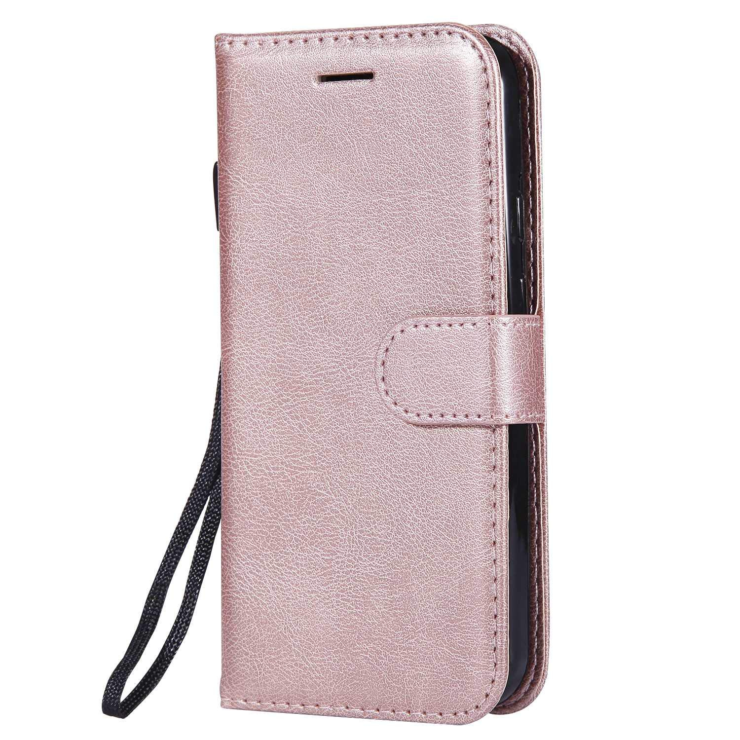 Moto G2 Wallet Case, UNEXTATI Leather Flip Case with Magnetic Closure and Card Holders, Anti-Shock Bumper Cover for Moto G2 (Rose Gold #4)