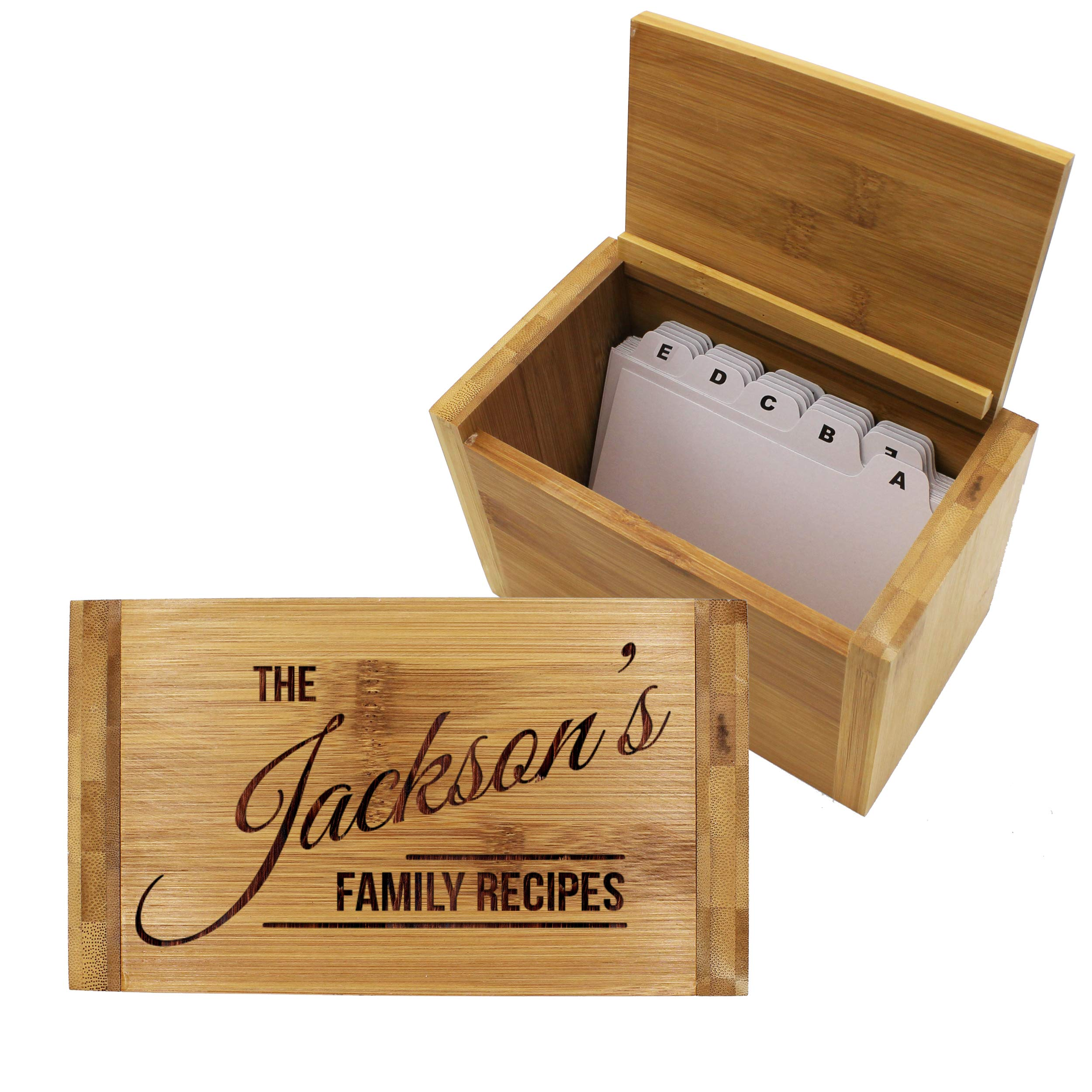 Engraved Recipe Box 4x6 Card Holder - Personalized Custom Gifts For Mom - Kitchen Cooking Gift by My Personal Memories