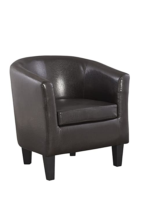 The One Sillón marrón sillón - marrón sillón Piel sintética ...