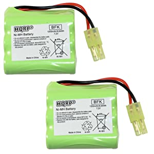 HQRP 2-Pack Battery for Shark V2945Z V2945 XB2950 V2950 V2950A Floor & Carpet Sweeper Replacement Plus HQRP Coaster