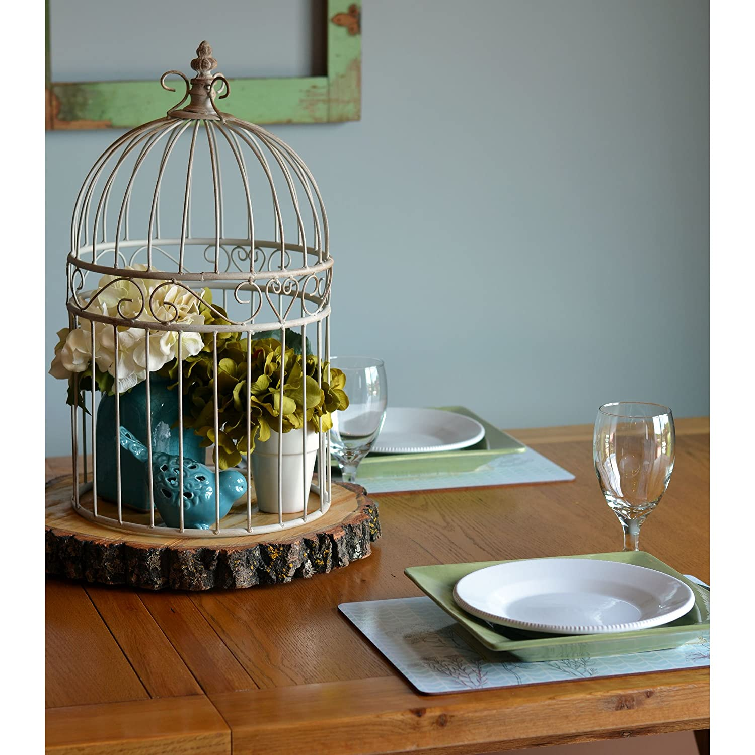 Amazon.com : The Farmers Market Decorative Bird Cage Plant Stands ...