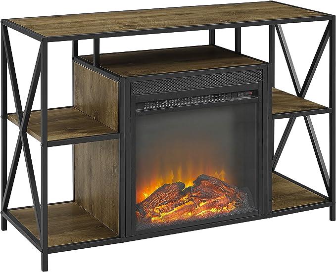 Barnwood WE Furniture AZ40FPMAINBW Fireplace TV Stand 40