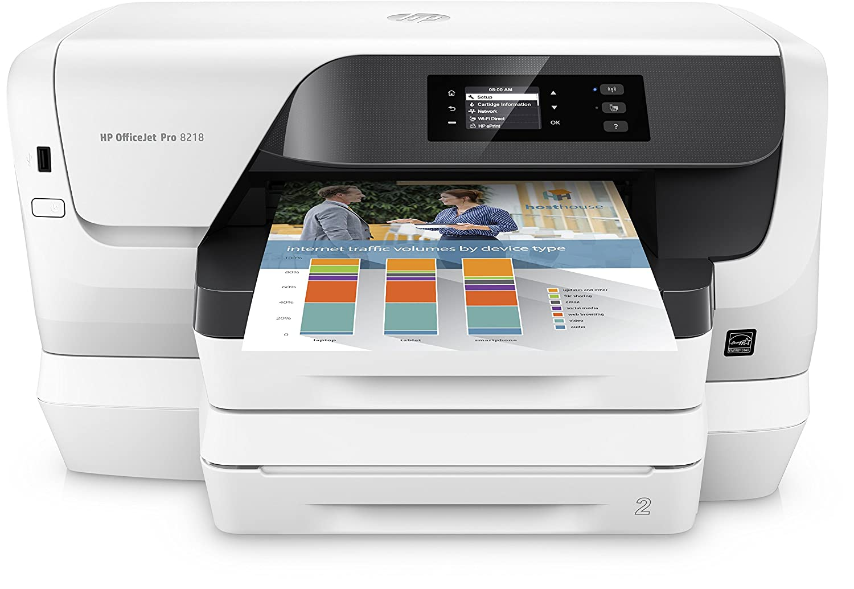 HP Officejet Pro 8218 Stampante Multifunzione, 2400 x 1200 DPI, A4, Wi-Fi, Bianco J3P68A#A81