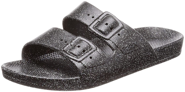 2556a7cbd03b2d Amazon.com | Moses Womens Glitter Black Freedom Sandals-UK 4-5 | Sandals