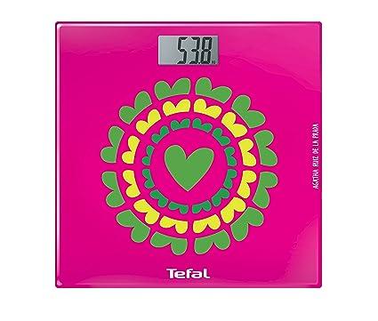 Tefal Optiss Marigold - Báscula de baño, con pantalla digital extra grande, multicolor