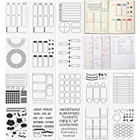 Ayamuba 16 Pack Journal Stencil Set - A5 Size Daily/Weekly/Monthly Tracker Stencils Templates for Journal, Calendars…