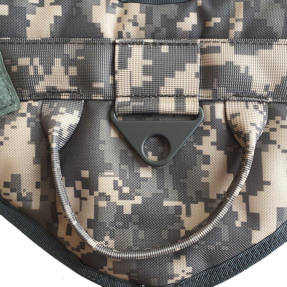 YooGer Formation Chiens Tactique Gilet-Harnais Pet Chien Gilet Nylon /Étanche Confortable Militaire Service Chien Patrouille Harnais Poign/ée Gris Couleur Num/érique, M