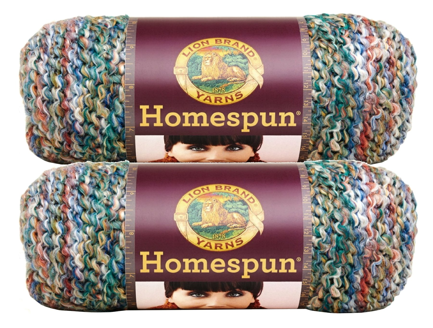 Bulk Buy: Lion Brand Homespun Yarn (2-Pack) (Painted Desert #790-407)