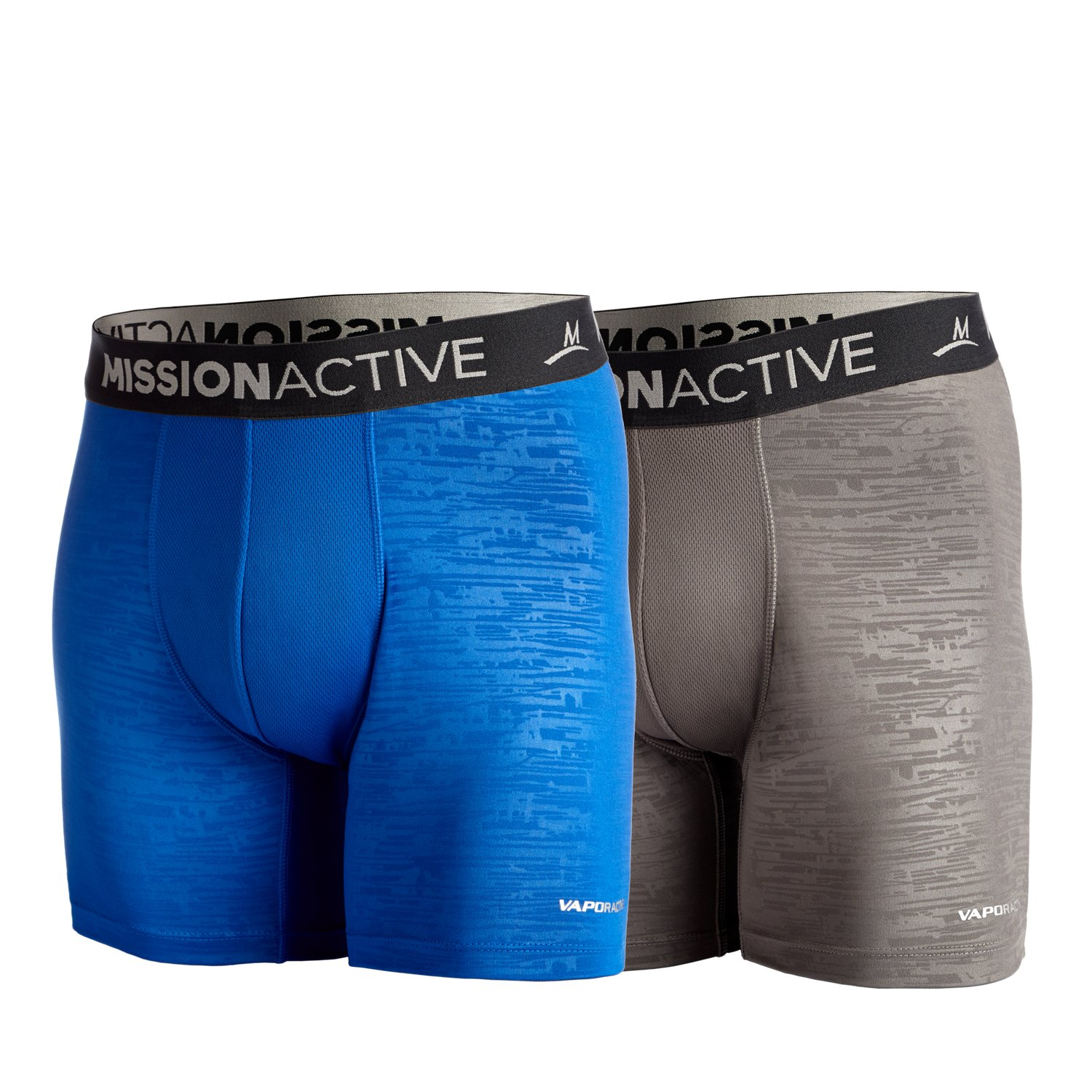 2 Pack Mission Mens VaporActive Boxer Briefs