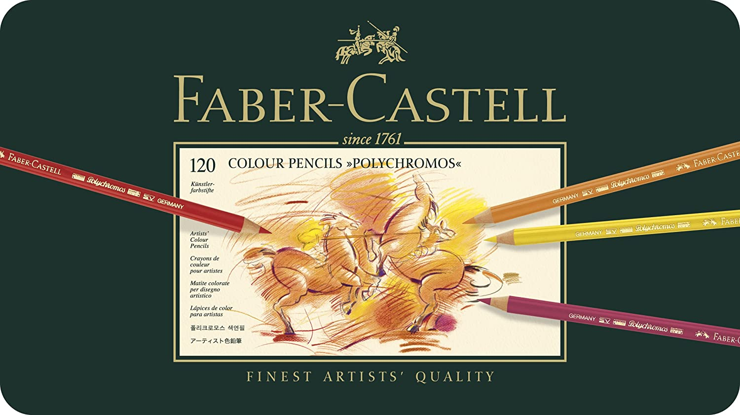 Amazon faber castell polychromos color pencil set tin of amazon faber castell polychromos color pencil set tin of 120 childrens colored pencils office products nvjuhfo Images