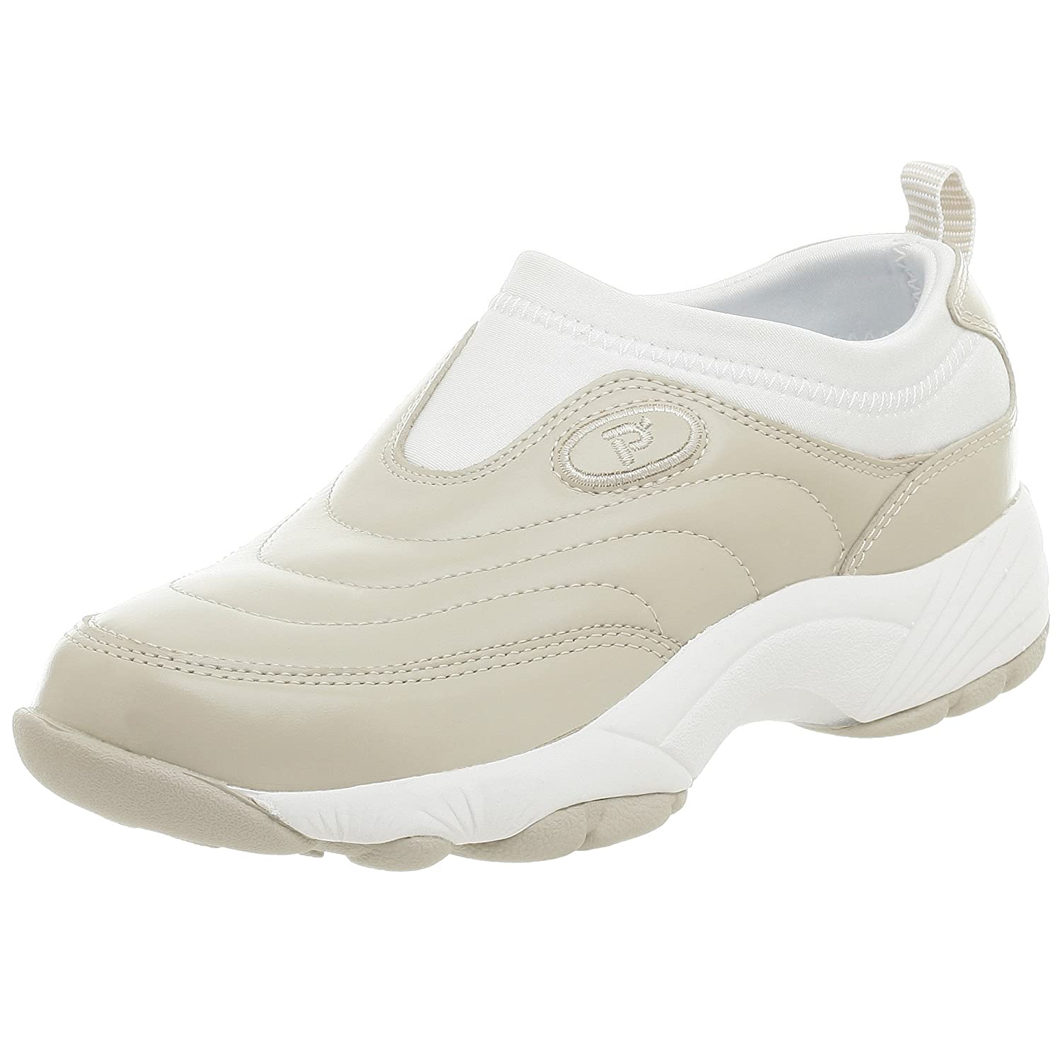 Propet Women's W3851 Wash & Wear Slip-On B000PYK3MQ 6.5 X (US Women's 6.5 EE)|Bone/Wht