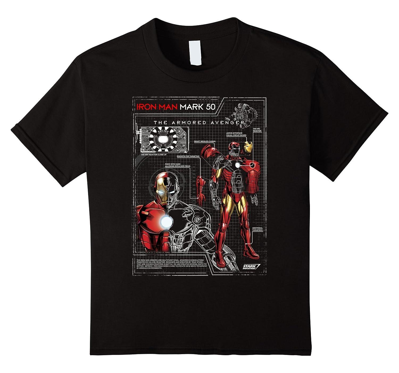 Armor Plated Print Schematic T Shirt-Samdetee