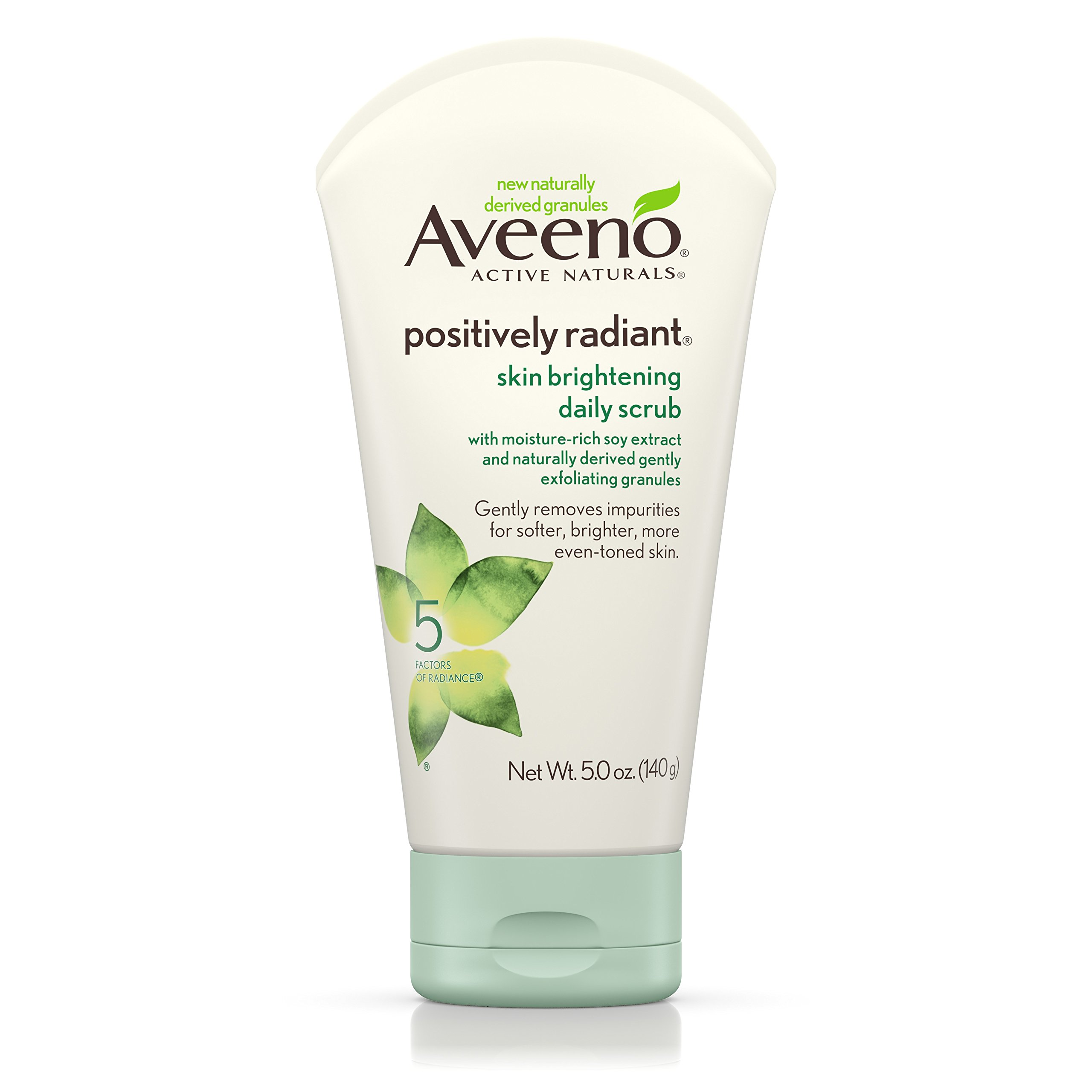 Aveeno Positively Radiant Brightening Daily Scrub 5 Ounce (145ml) (6 Pack)