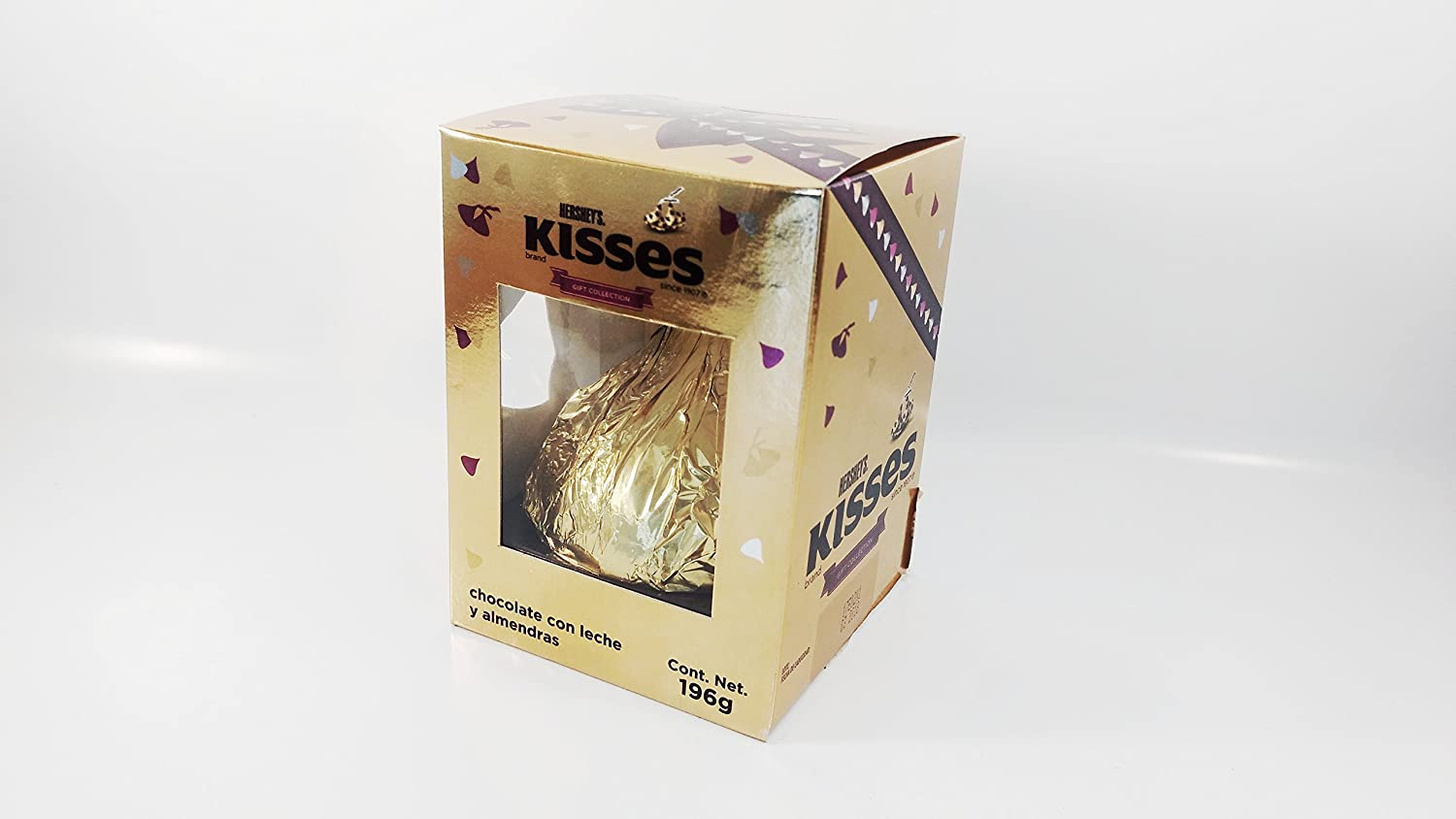Amazon.com: HERSHEYS KISSES GIANT GIFT COLLECTION MILK CHOCOLATE WITH ALMONDS (7oz) Authentic Mexican Candy with Free Chocolate Kinder Bar Included: Toys & ...