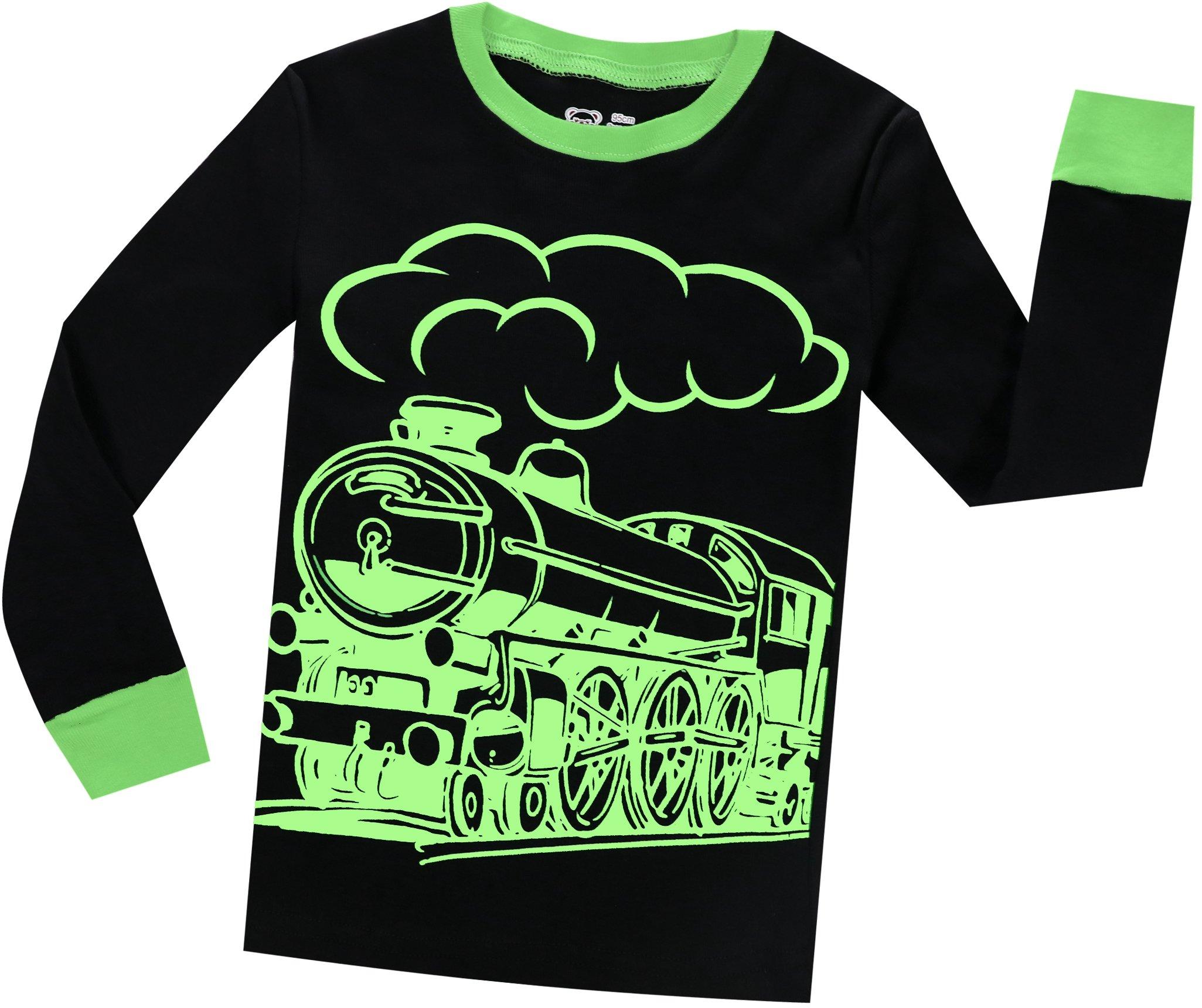 Boys Christmas Pajamas Pjs for Girls Sleepwear Children Clothes Stripe Pants Set Size 8 by BebeBear (Image #3)