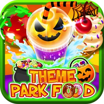 Halloween Carnival Games For Kids.Halloween Theme Park Fair Food Maker Make Dessert Foods Amusement Parks Candy Pizza Pumpkins Ghosts Free Toy Prizes Play Zombie Carnival