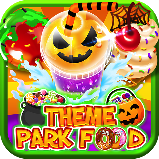 (Halloween Theme Park Fair Food Maker – Make Dessert Foods, Amusement Parks Candy Pizza, Pumpkins, Ghosts, FREE Toy Prizes, Play Zombie Carnival Games in Kids Bake & Cook Chef Game)