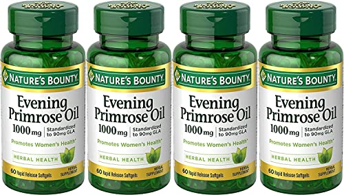 Nature s Bounty Nature s Bounty Evening Primrose Oil, 1000mg, 240 Softgels 4 X 60 Count Bottles , 60 Count