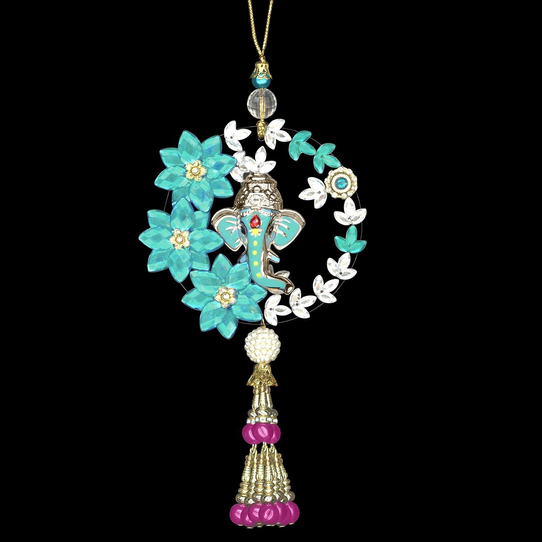 Amberroze Blue with pin tassel Ganesha Hanging/…