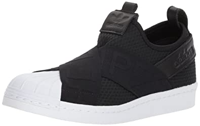 the latest f073a 270be adidas Originals Women s Superstar Slipon W Sneaker Running Shoe, core Black  White, 5