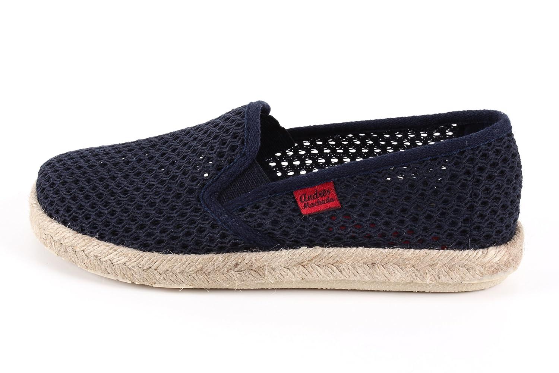 Andres Machado.AM500.Chaussures classiquesen Toiles.Grandes Pointures du 42 au 50.Made in Spain Marine À Rayures (Rejillamarine)