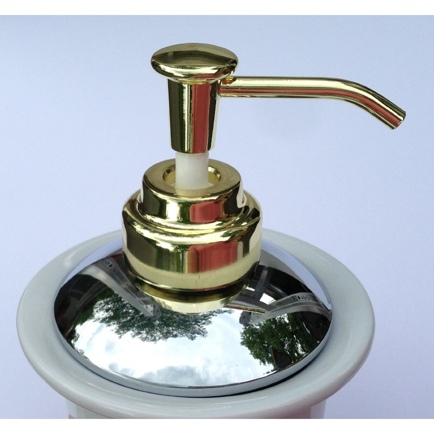 MOEN Wall Mounted KINGSLEY POLISHED CHROME & POLISHED BRASS Liquid Hand Soap or Lotion Dispenser by Soap Dispenser