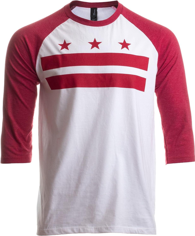 Washington, DC Flag   D.C. Capitol Raglan Shirt, Baseball T-Shirt for Men Women