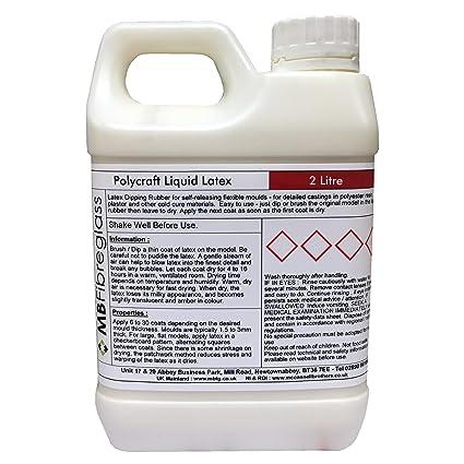 Látex líquido polycraft para hacer moldes, 2 litros