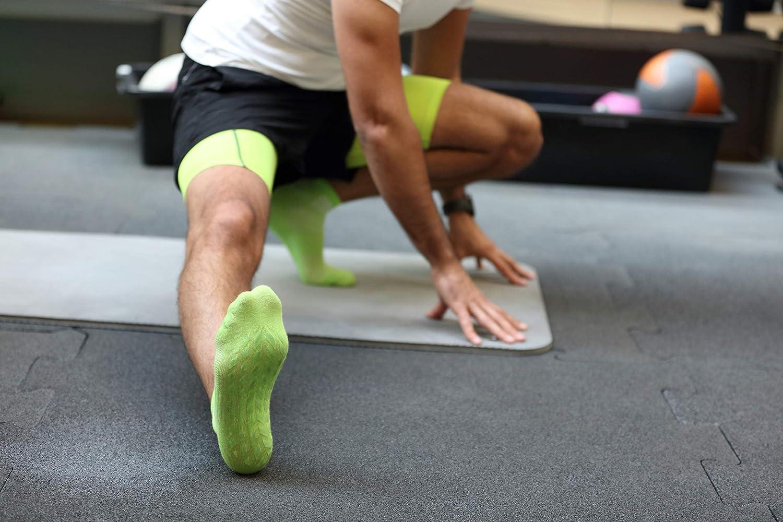 Women Men Cotton Non Slip Grip ABS Sport Socks Rainbow Socks