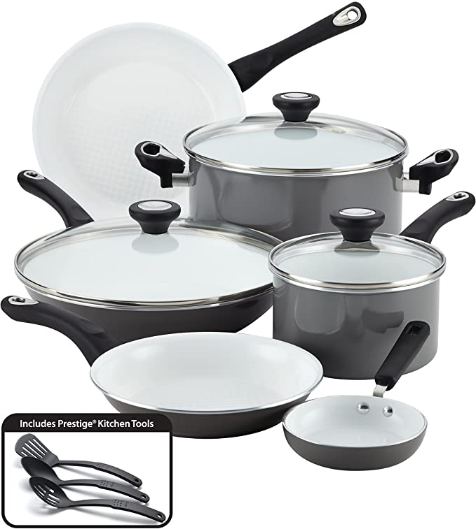Farberware Ceramic Nonstick Cookware Pots and Pans Set