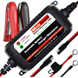MOTOPOWER MP00206A 12V 1.5Amp Automatic Battery Charger, Battery Maintainer for Cars, Motorcycles, ATVs, RVs…