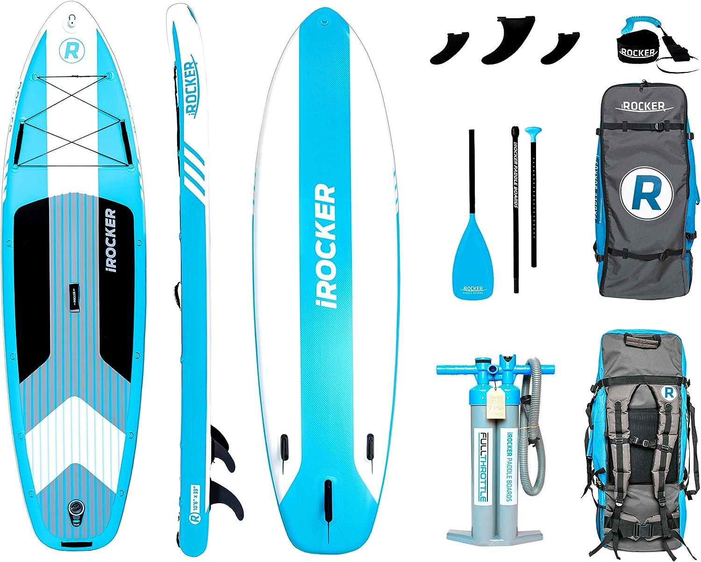 Amazon.com: iROCKER - Tabla de surf de remo hinchable de 10 ...