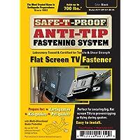 Safe-T-Proof Sistema de sujeción de visualización plana para TV, color negro