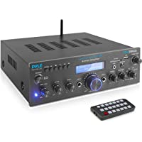 Premium Bluetooth Stereo Amplifier, 200 Watt Compact Amp Receiver with Remote Control, FM Antenna and USB/AUX Port