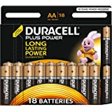 Duracell Plus Power Batterie Alcaline Stilo AA, confezione da 18