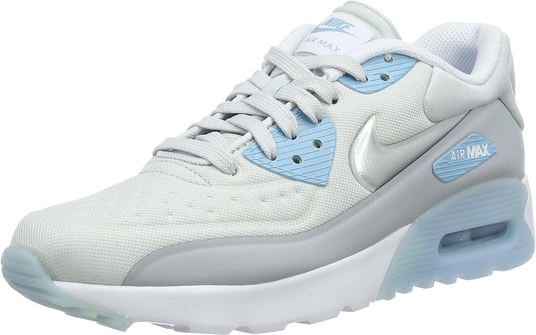 Nike AIR MAX 90 Ultra SE (GS) Girls Running Shoes 844600 002_6Y Pure PlatinumMetallic Silver Wolf Grey