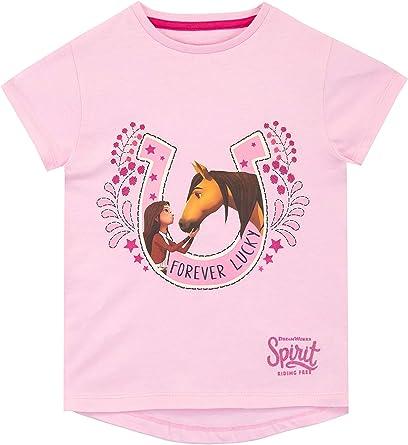 DreamWorks Girls Spirit Riding Free Long Sleeve Top