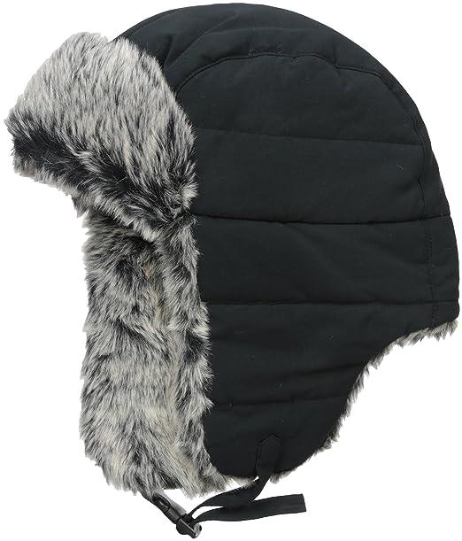 c3c0834fa7b46d Dockers Men's Nylon Trapper Hat, Black, Small/Medium: Amazon.ca ...