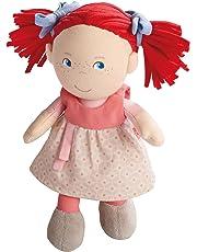 Haba 5737 - Puppe Mirli weiche Stoffpuppe, für Babys ab 6 Monaten zum Spielen, Kuscheln und Trösten, ideales Geschenk zur Geburt und Taufe, Lieferung in hochwertiger Geschenkverpackung
