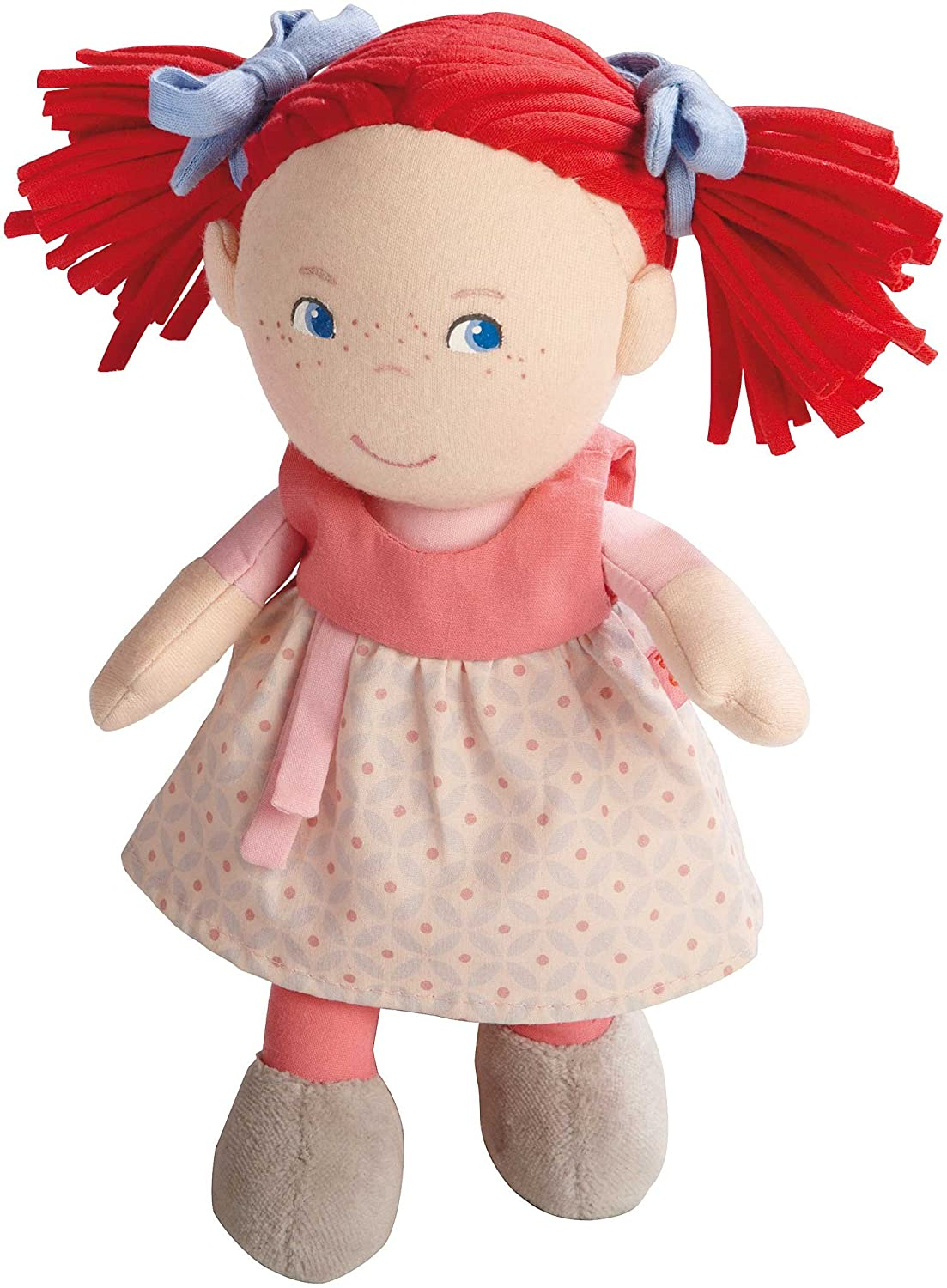 """HABA Soft Doll Mirli 8"""" - First Baby Doll with Red Pigtails for Ages 6 Months and Up"""