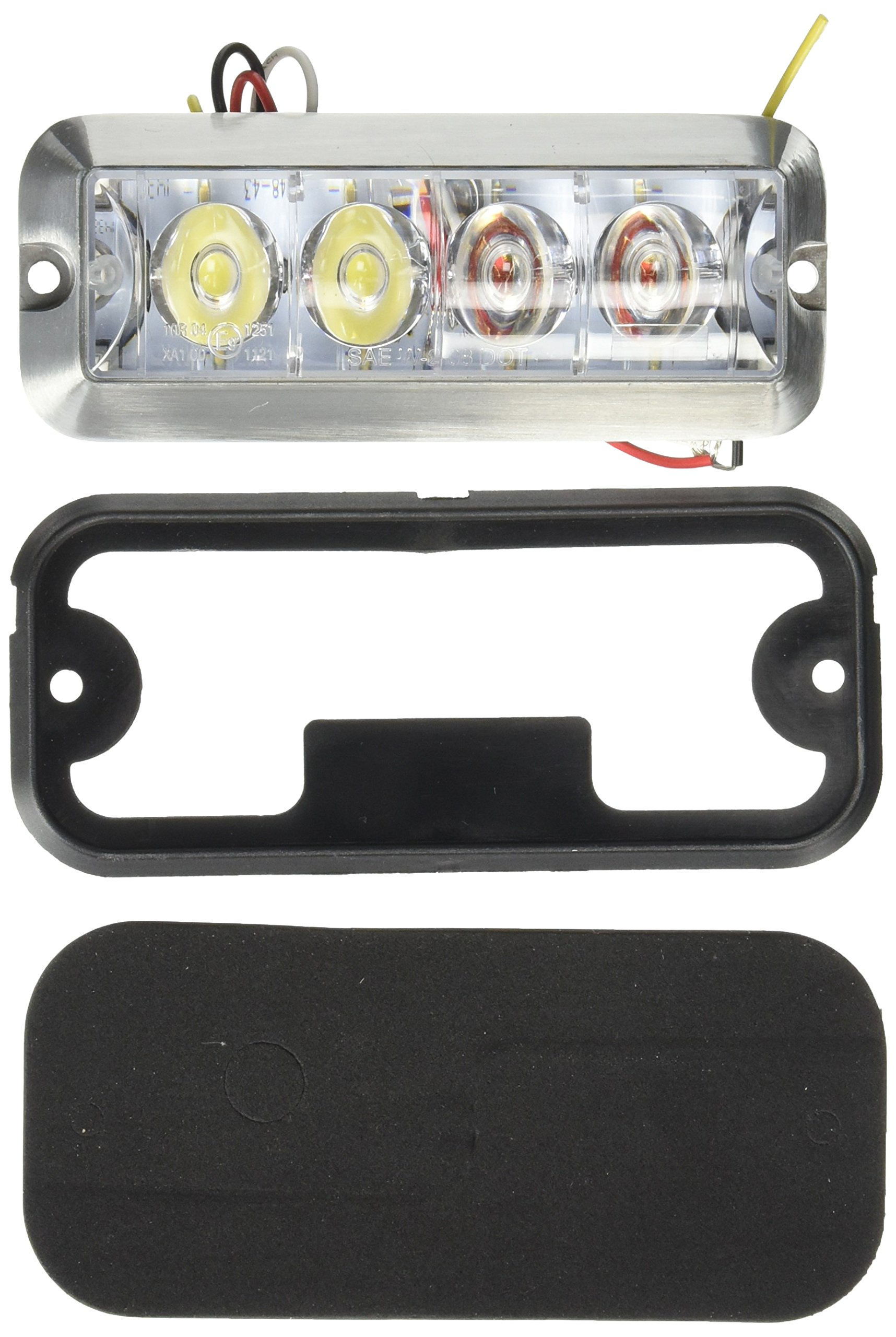 Buyers Products 8891105 Amber/Clear LED Strobe Light (4-7/8in) by Buyers Products