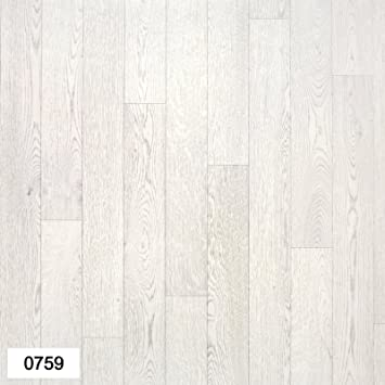 0759 Falco Light Grey Wood Effect Anti Slip Vinyl Flooring Home Office Kitchen Bedroom Bathroom High Quality Lino Modern Design 2M 3M 4M Wide Passion 2x1